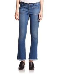 Stella McCartney Skinny Kick Flare Frayed Hem Jeans