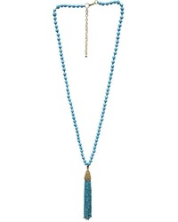 Mud Pie Beaded Tassel Necklace