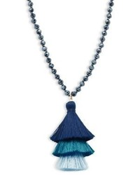 Beaded tassel pendant necklace medium 5422921
