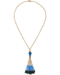 Lydell NYC Long Beaded Tassel Y Drop Necklace