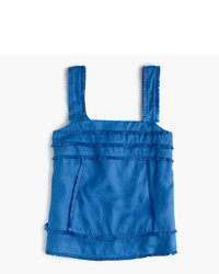 J.Crew Tall Linen Tank Top With Fringe
