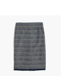 J.Crew Petite Pencil Skirt With Fringe Hem