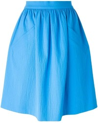 Carven Ruched A Line Skirt