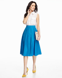 Catherine Malandrino Catherine Ronnie Pleated A Line Midi Skirt ...