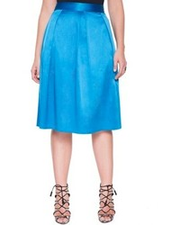 ELOQUII Plus Size Full Skirt With Pleats