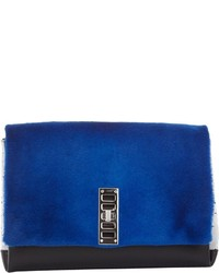 Fur ps elliot clutch blue medium 451119