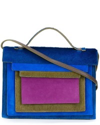 Blue Fur Crossbody Bag