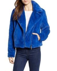 Rebecca Minkoff Henderson Faux Fur Moto Jacket