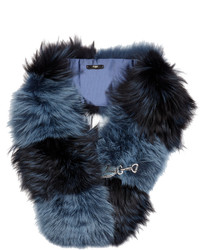 Fendi Bi Colour Fox Fur Scarf