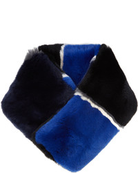 Diane von Furstenberg Striped Rabbit Fur Scarf