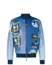 Versace Collection Geometric Print Bomber Jacket