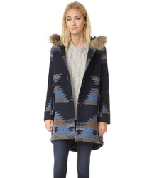 Dalley tribal pattern hooded coat medium 774624