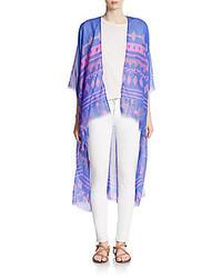 Elizabeth Gillett Roxy Geo Print Convertible Scarf Kimono