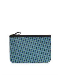 Cube print coated canvas pouch medium 37805