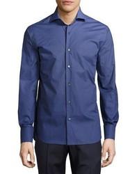 Neiman Marcus Geo Print Dgrad Sport Shirt Bluenavy