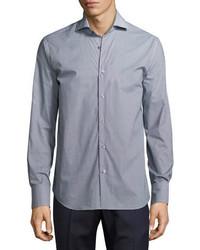 Neiman Marcus Geo Print Sport Shirt Navy