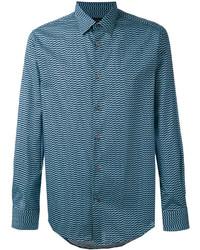 Pal Zileri Geometric Print Long Sleeve Shirt