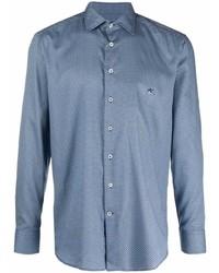 Etro Logo Embroidered Long Sleeve Shirt