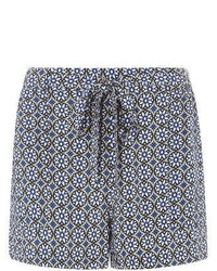 Dorothy perkins blue geo prints shorts medium 310241