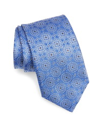 Canali Geometric Medallion Silk Tie