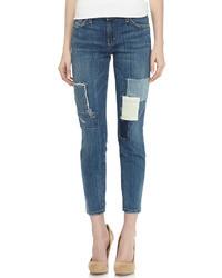 Current/Elliott Stiletto Patchwork Jeans Blue