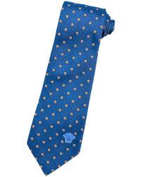 Versace Yellow Square Printed Silk Tie