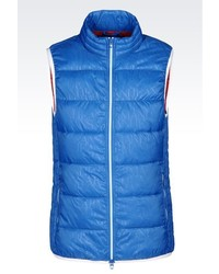 Armani Jeans Down Gilet In Technical Fabric
