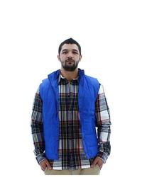 Black Web Solid Puffer Vest