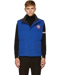 Blue puffer freestyle vest medium 169817