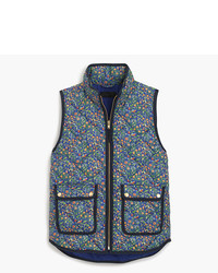 Petite Excursion Vest In Liberty Catesby Floral