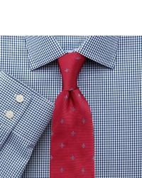 Charles Tyrwhitt Classic Fit Small Gingham Navy Shirt