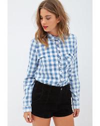 Forever 21 Collared Gingham Shirt