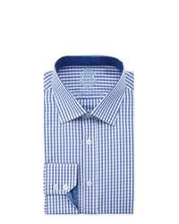 English Laundry Classic Fit Gingham Dress Shirt Blue