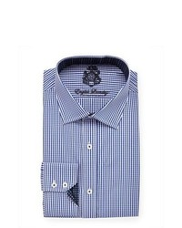 English Laundry Mini Gingham Dress Shirt Navy