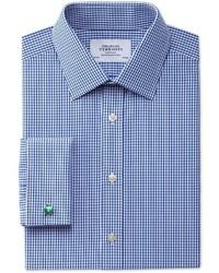 Charles Tyrwhitt Extra Slim Fit Small Gingham Navy Shirt