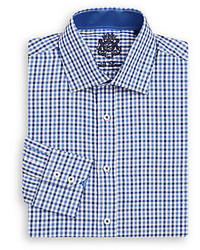 English Laundry Regular Fit Gingham Cotton Dress Shirt