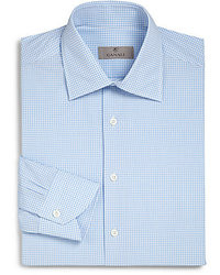 Canali Regular Fit Gingham Dress Shirt
