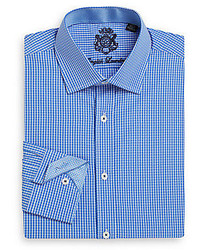 English Laundry Regular Fit Micro Gingham Check Cotton Dress Shirt