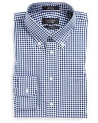 Shop classic fit non iron gingham dress shirt medium 3730206