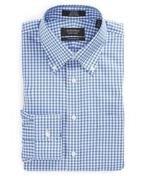 Shop traditional fit non iron gingham dress shirt medium 404792