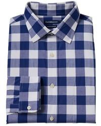 croft & barrow True Comfort Slim Fit Easy Care Stretch Spread Collar Dress Shirt