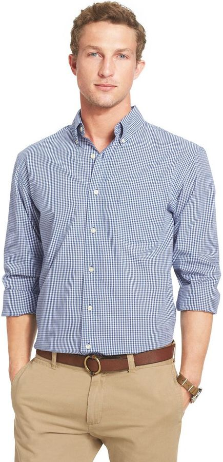 Blue Gingham Long Sleeve Shirt Arrow Gingham Checked