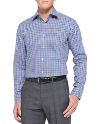 Hugo Boss Boss Gingham Check Woven Shirt Blue