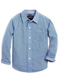 Nautica Boys Gingham Button Down Shirt Sizes S Xl