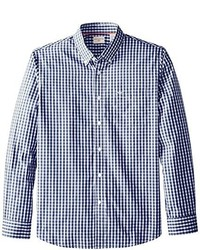 Dockers Long Sleeve Gingham Button Front Shirt