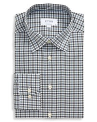 Eton Flanella Contemporary Fit Check Flannel Button Up Shirt