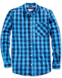Tommy Hilfiger Little Boys Long Sleeve Gingham Shirt