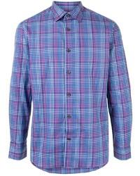 Kent & Curwen Long Sleeved Gingham Check Shirt
