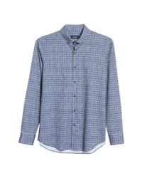 Bugatchi Ooohcotton Tech Check Knit Shirt