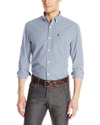 Original Penguin Heritage Long Sleeve Slim Fit Gingham Button Down Shirt
